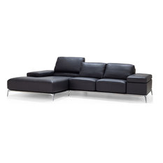 Arianna Sectional - Anthracite Full Grain Italian Leather Left Facing