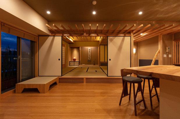 和室・和風 リビング by 椿建築デザイン研究所Tsubaki&Associates