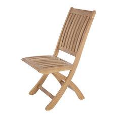 Barbuda Folding Dining Chair, No Cushion