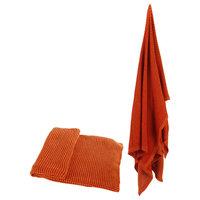 """100% Cotton Throw Blanket 50x60"""" Orange"""