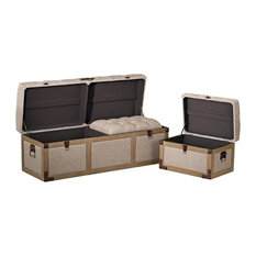 Belgian Linen Storage Trunks
