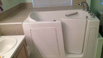 Before and After Walk in Tub Installation in Oklahoma City