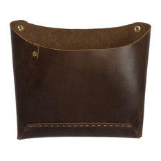 Leather Wall Pocket, Saddle