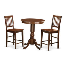 3 PC Counter Height Table And Chair Set-Pub Table And 2 Counter Height Chairs