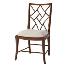 Theodore Alexander A Delicate Trellis Side Chair #4000-613.1AWL - Set Of 2