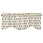 """DaDa Bedding Collection - Ivory Blue Elegance Medallions Window Curtain Valance - 18"""" x 52"""" - Wake up refreshed with our elegant and Ivory Medallions Blue Elegance valance for a light pop of color added to your bedroom."""