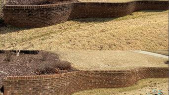 Brick Retaining Wall & Stairs