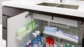 TANSEL Under Sink Pull Out Wire Baskets