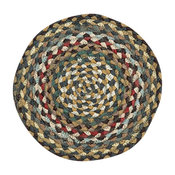 Fir and Ivory Braided Rug, 7 75' Round