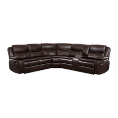Arden 3-Pieces Sectional Set, Brown