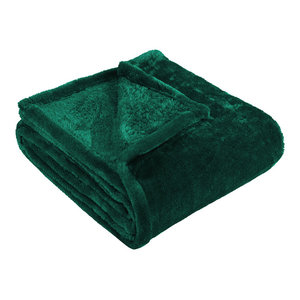 Ultra-Soft Luxury Fleece Blankets, Lightweight Throw, Evergreen