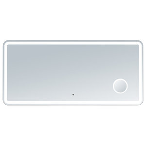 Electric LED Mirror, Rounded Edges, Magnifying Cosmetic Light, 60  X  28