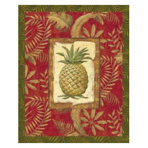 Exotica Pineapple by Charlene Audrey Canvas Print