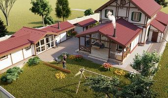 Реконструкция дома г. Перми в стиле фахверк.. Гараж, веранда, Летний домик