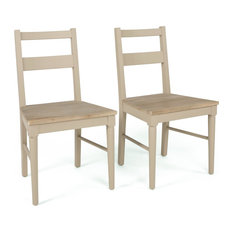 1st Avenue - Warwick Solid Reclaimed Wood Dining Chairs, Set of 2 - Dining Chairs