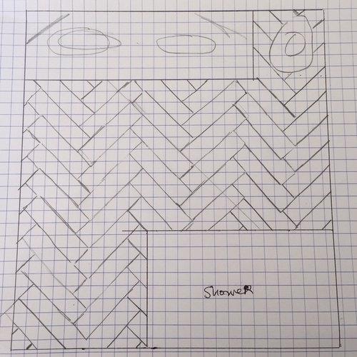 Which Example Do You Like Better For Herringbone Tile Orientation - 45 degree herringbone tile pattern