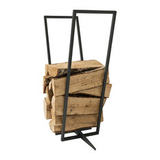 Firewood Rack Transparent, Black