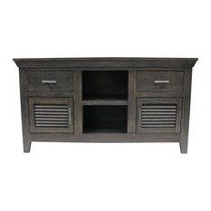 Brooke Solid Wood Shutter Door TV Stand 60-inch