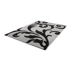 France Paris Rug, Black and Silver, 160x230 cm