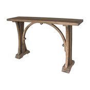 Contemporary Pine Architectural Console Table