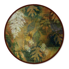 "Lazy Susan, Leaves Maple and Fern, 18"" Diameter"