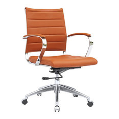 Fine Mod Imports Sopada Mid Back Conference Office Chair Light Brown Chairs
