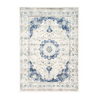 Traditional Medallion Verona Rug, Blue, 5