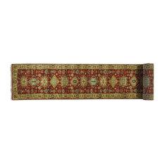 3'x20' xL Runner Pure Wool Handmade Rust Red Karajeh Oriental Rug