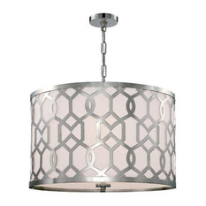 Crystorama Libby Langdon for Jennings 5 Light Polished Nickel Chandelier