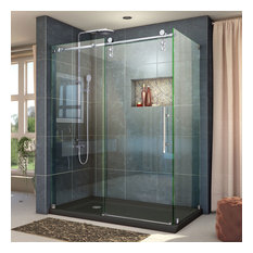 dreamline dreamline enigmaz 345x60 fully frameless sliding shower enclosure polished ss