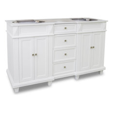 "Elements - 58-7/8"" Douglas White Double Vanity, Painted White - Bathroom Vanities and Sink Consoles"