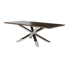 Jadira Dining Table Seared Stainless 112-inch