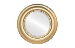 "Lancaster Framed Round Mirror in Desert Gold, 35""x35"""