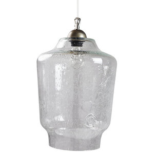 Retro Glass Pendant Lamp, Clear