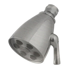 6-Jet Adjustable Shower Head In Polished Chrome, Satin Nickel