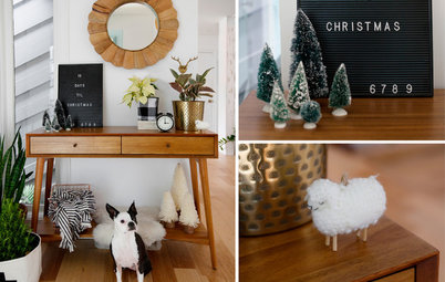Black-and-White Boho Holiday Style for Your Entry
