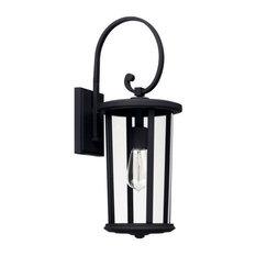 Capital Lighting 926711BK Howell - One Light Outdoor Wall Lantern
