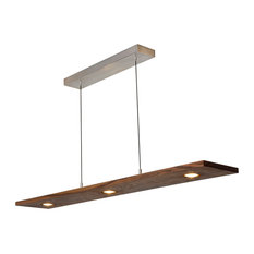 Cerno Vix LED Linear Pendant, Dark Stained Walnut, 3500k (Cool) Color Temperatur