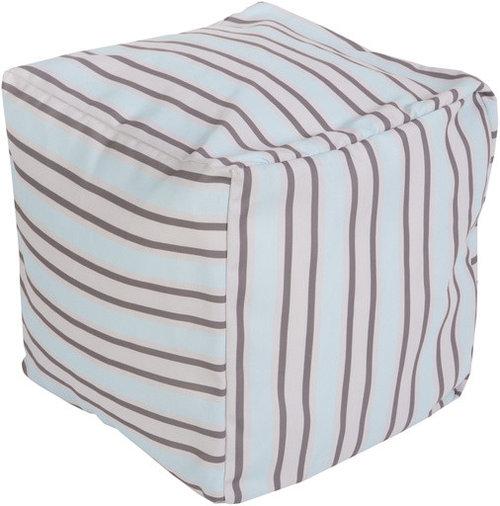 Surya Poufs- (POUF-284) - Floor Pillows And Poufs