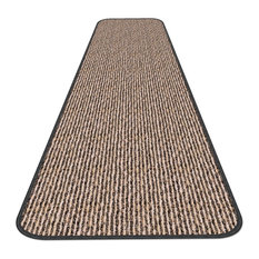 "Skid-Resistant Carpet Runner Black Ripple, 36""x12'"
