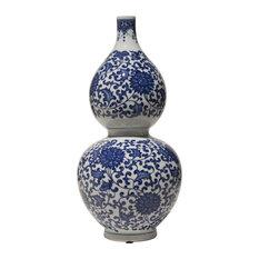 Gourd Vase, Blue and White