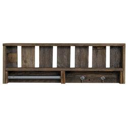 Industrial Bathroom Shelves by Del Hutson Designs