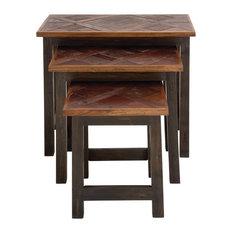 Amper 3-Piece Wood Nesting Table Set