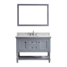 "Julianna 48"" Single Bathroom Vanity Cabinet Set, Gray"
