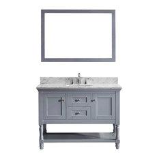 "Julianna 48"" Single Bathroom Vanity Cabinet Set, Gray"