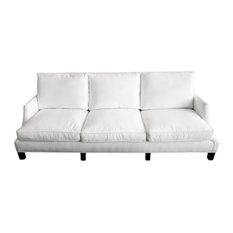 White Denim & Down Sofa