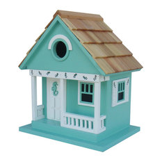 Sea Horse Cottage Birdhouse, Aqua