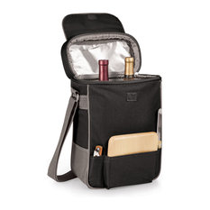 Duet Wine And Cheese Tote, Black With Grey