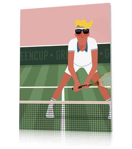 Poster déco tennis Wimbledon - Décoration Murale Enfant