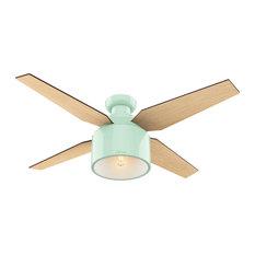 "Hunter Fan Company Cranbrook Low Profile Mint Ceiling Fan With Light/Remote, 52"""